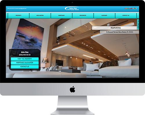 Single-property website for realtors